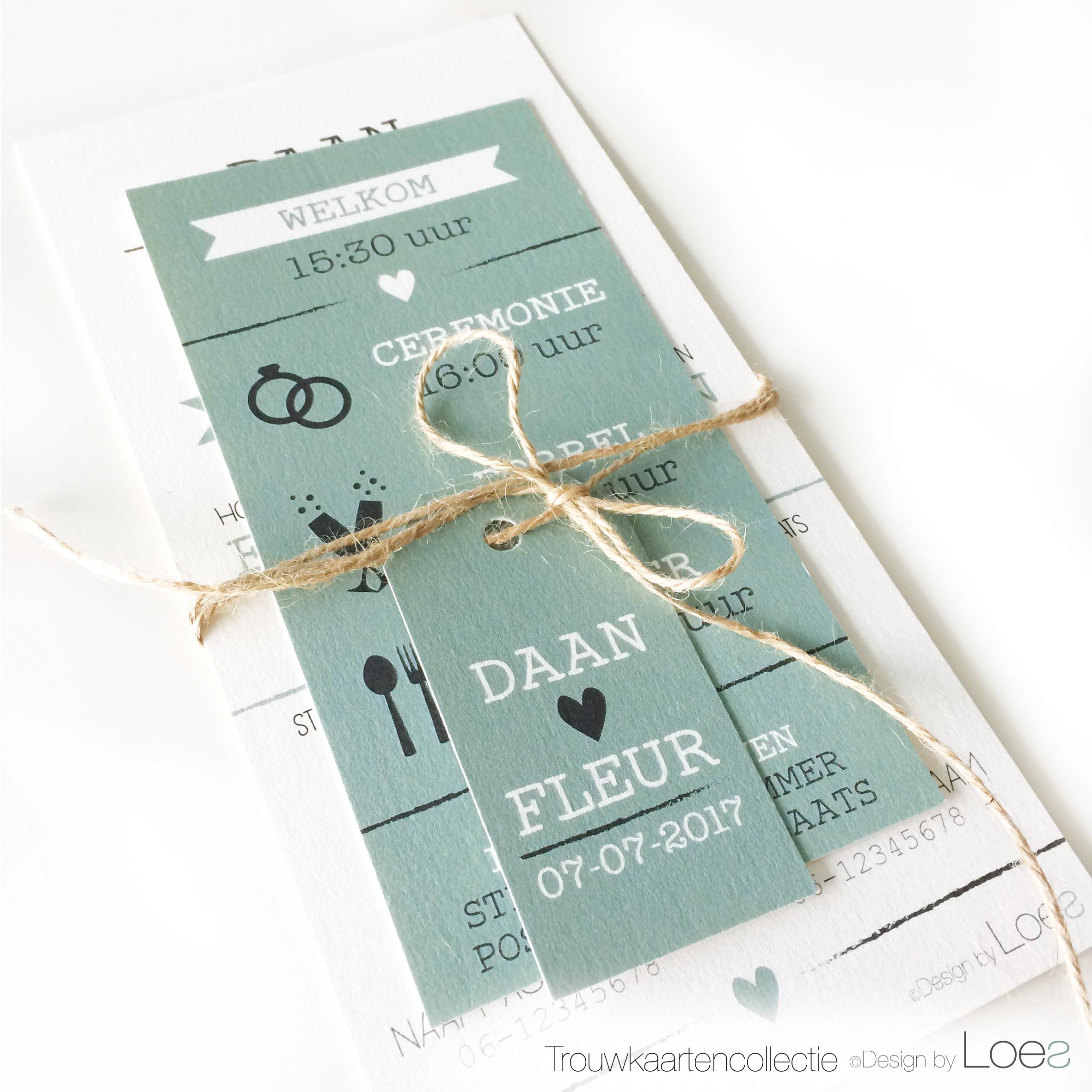 Genoeg Trouwkaarten - Design by Loes #PQ63